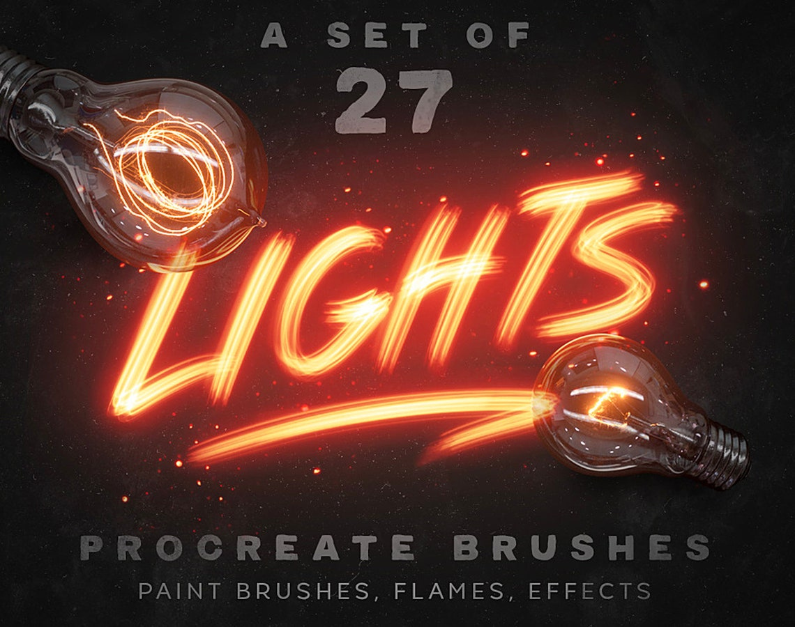 Procreate Lights Brushes image 0