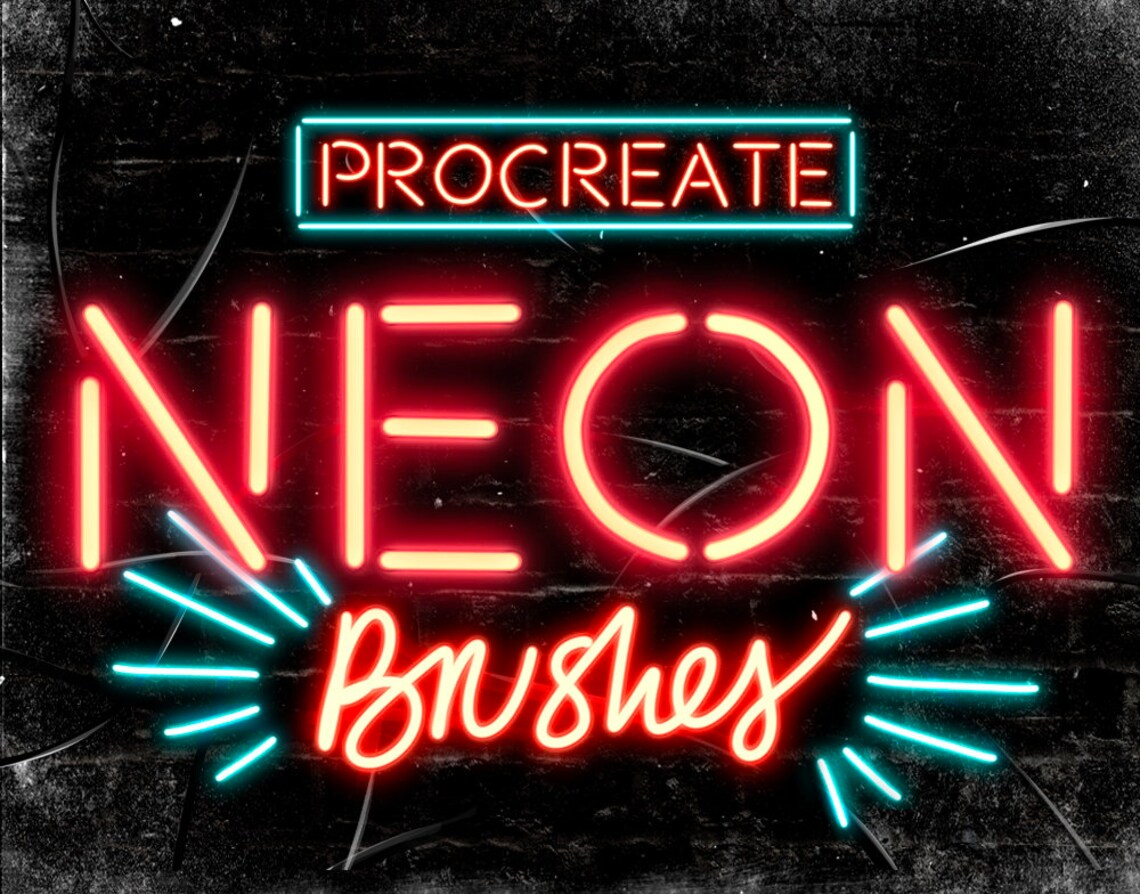 Procreate Neon Brushes image 0