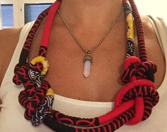 Capulana necklace / capulana necklace