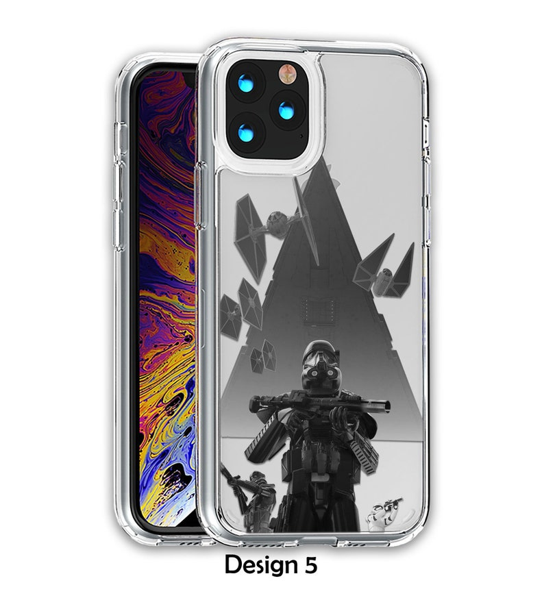 Stormtrooper iPhone 12 Pro Case Star Wars Clear Acrylic Note 20 Case Hybrid Crystal Case Galaxy S21 Ultra Case iPhone 11 Case  case