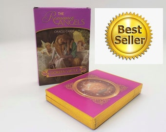 The Romance Angel Oracle Cards Deck - Doreen Virtue Rare Out of Print. NEW  Gold-Plated
