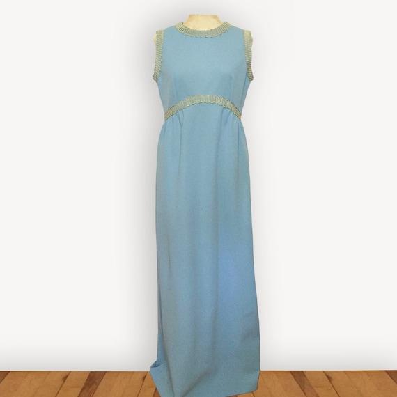 Vintage 1960s Leslie Fay maxi dress