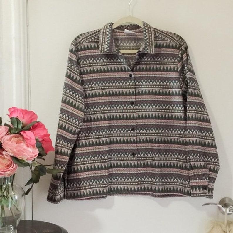 100/% cotton shirt  Vintage cotton shirt  Nineties button-up shirt