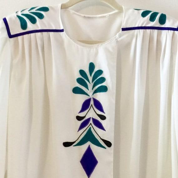 Eighties blouse / Vintage secretary blouse - image 4