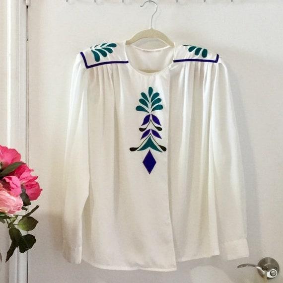 Eighties blouse / Vintage secretary blouse - image 2