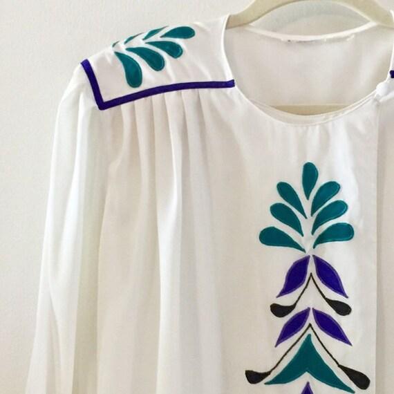 Eighties blouse / Vintage secretary blouse