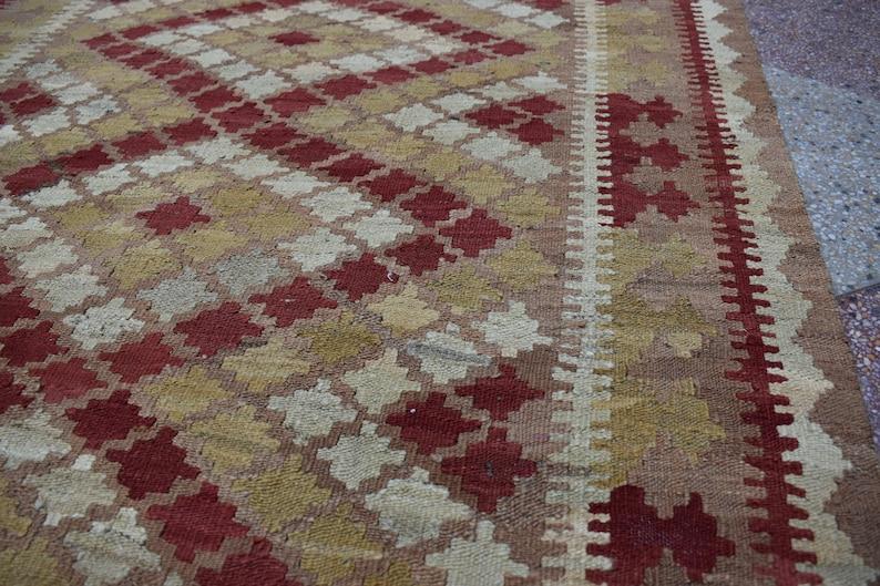 6.8 x 3.8 Ft Traditional afghan kilim vintage natural colours 100/% wool flat weave area rug bohemian,Afghan kilim,Runner kilim,Tribal kilim