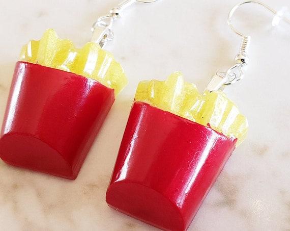 French Fries Earrings - Fast Food  - Earrings Made of Resin