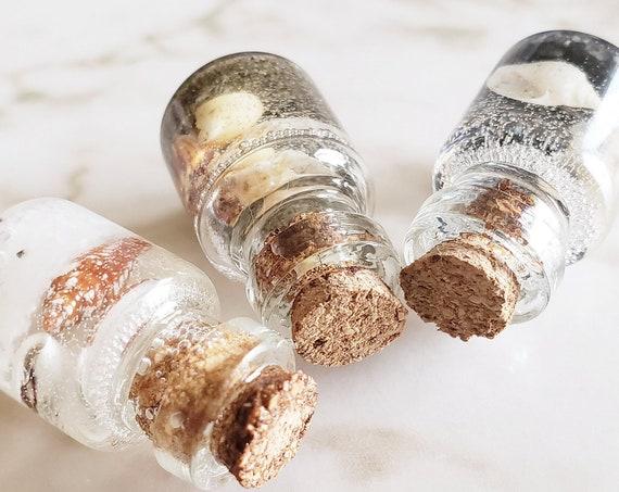 Bottle Full of Sea - Tiny Shells in a Glass Bottle - UV Resin