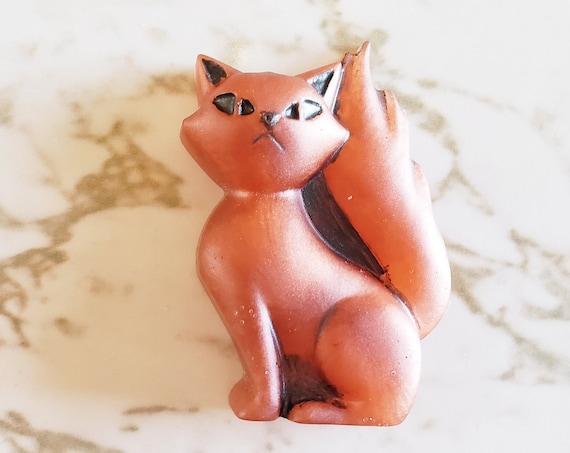 Spooky Cat - Dark Orange Cat - Halloween - Trinkets and Knick Knacks