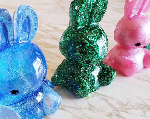 Bunny with x mouth - 3D - Decor or Magnet Options Available