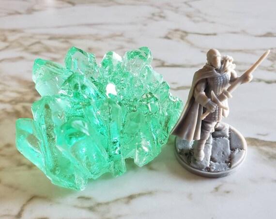 Crystal Cluster - Bottle Green - Made in Resin