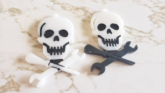 Skull and Tools Charm - Charm - Halloween - Spooky
