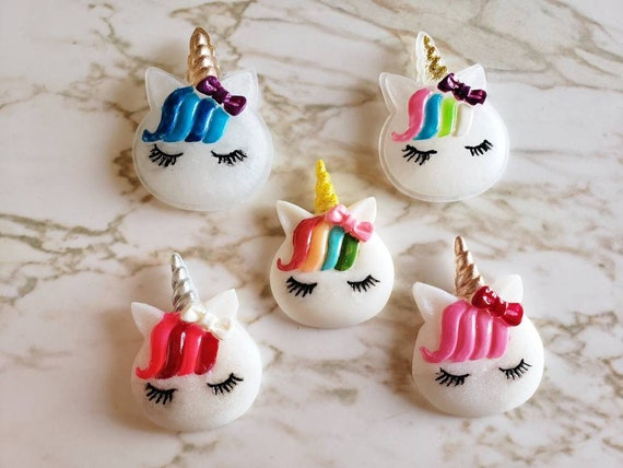 Unicorn With Bows and Bangs - Magnet - Resin Magnet