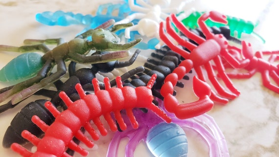 Bag of Bugs - 10 Bugs - Scorpion, Spider, Ants, Centipedes - Made of Resin