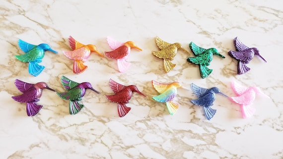 Humming Birds - Flat - Magnet Options Available - Made In Resin