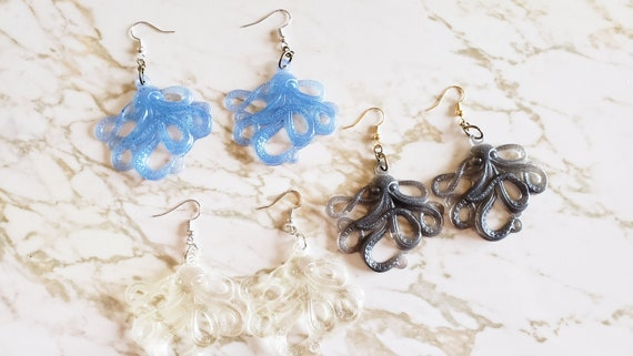Octopus Earrings - Earring - Made In Resin