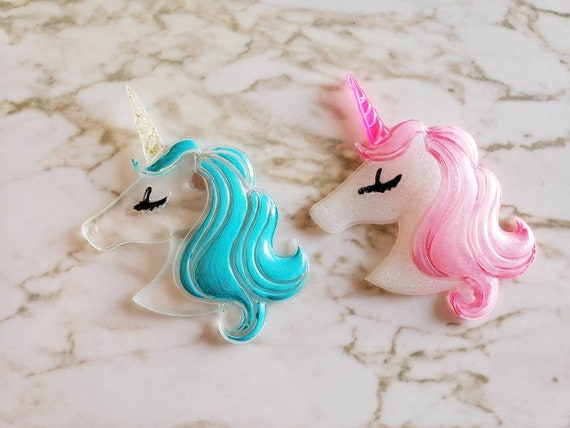 Unicorn With Long Hair - Magnet - Resin Magnet