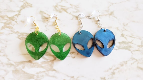 Area 51 Alien Earrings - Earring - Made In Resin