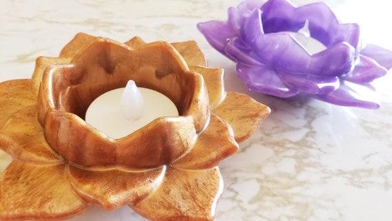 Lotus Bowl Large with Spread Petals - Made in Resin