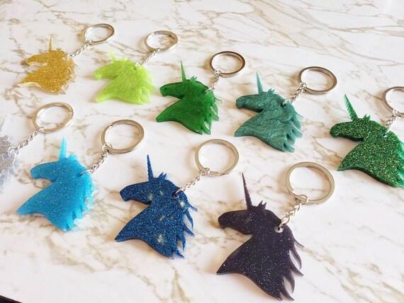 Unicorn Glitter Key Chain - Key Chain - Made of Resin