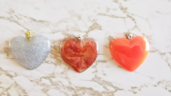 Heart Pendant - Necklace - Choose your cord color N142 N143 N144