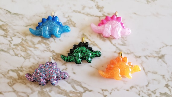 Stegosaurus Charms- Dinosaurs - Earring and Necklace Options Available! - Made In Resin