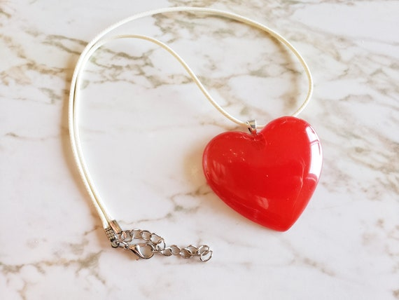 Heart Pendant - Necklace - Choose your cord color