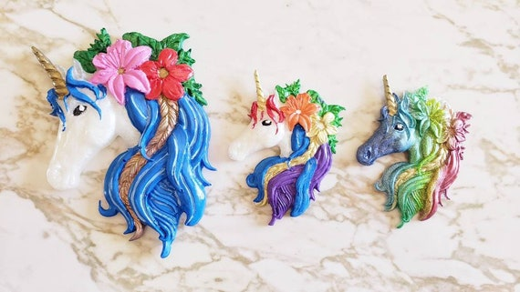 Unicorn Head - Large and Small Options - Resin Magnet