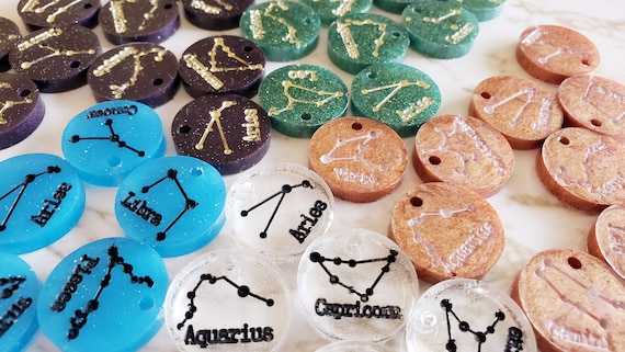 Astrological Zodiac Sign Charms - Charms Made of Resin
