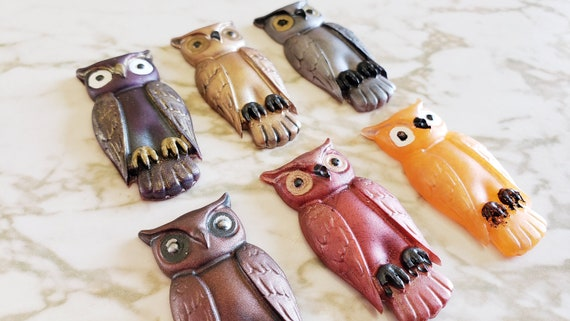 Wise Owl Magnets - Halloween - Magnets made of resin