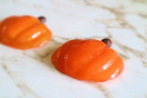 Pumpkin Halves - Set of 2 Pumpkins - Orange - Halloween - Trinkets and Knick Knacks