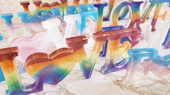 Love, Home, Family Lettering Decoration - Stands Up - 3D Decor - Made in Resin
