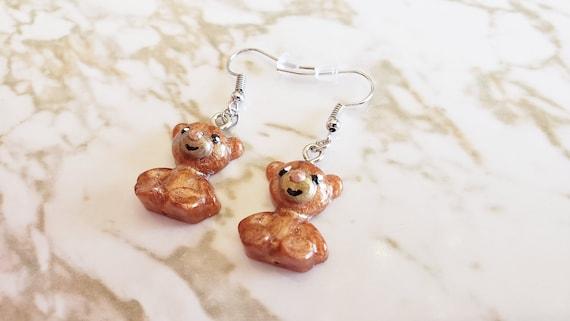 Teddy Bear Earrings - Earrings Made of Resin