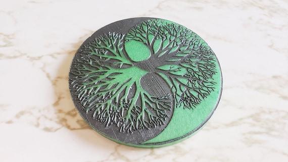Tree of Life Coaster - Resin Coaster - Pagan - Folklore