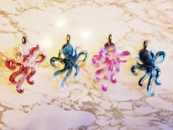 Octopus Charms - Necklace, Earring, or Ornament - Made In Resin
