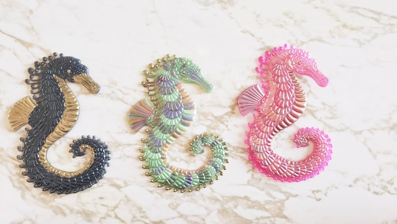 Flat Seahorse - Made In Resin - Magnet Options Available