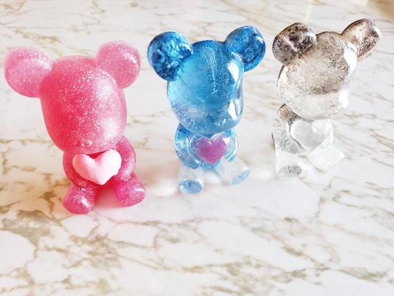 Teddy Bear Holding Heart - Decor, Magnet, or Pin Options Available