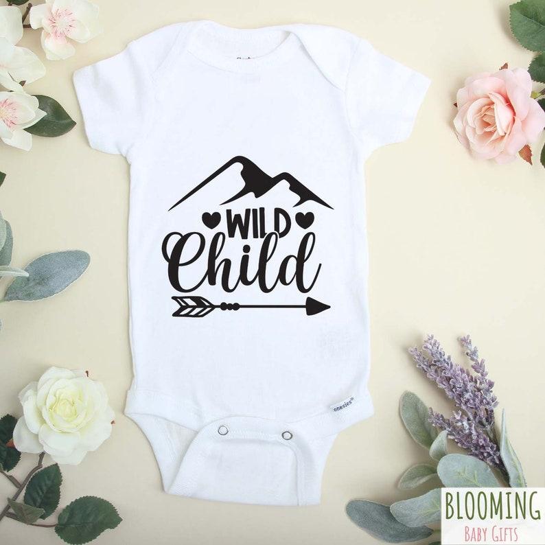 Pregnancy Reveal Funny Pregnancy Announcement Bodysuit Wild Child Funny Onesie\u00ae Baby Announcement Baby Shower Gift