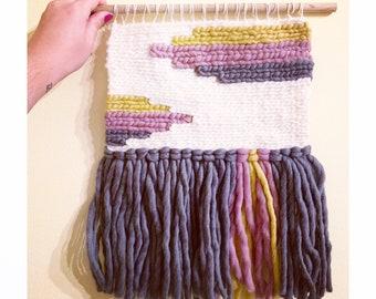 "Art Deco Inspired Tapestry Weaving // ""Daisy"""