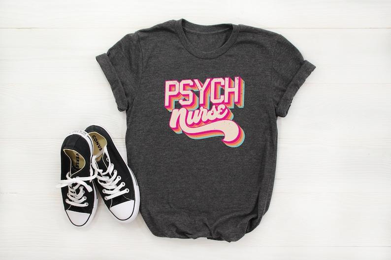 Gearhuman – Psych Nurse Vintage Retro Nurse Shirt T-shirt Tshirt – 3D Tshirt – TH-0072