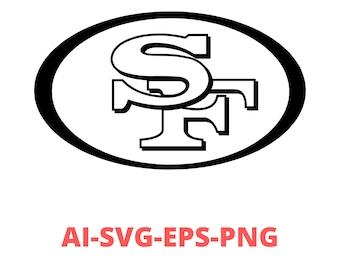 49ers Svg 49ers Heart Svg 49ers Svg Designs 49ers Heart Etsy