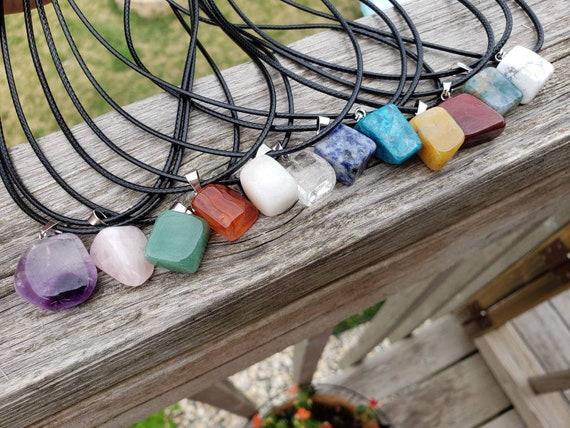 Pick A Stone Crystal Pendant on Black Cord