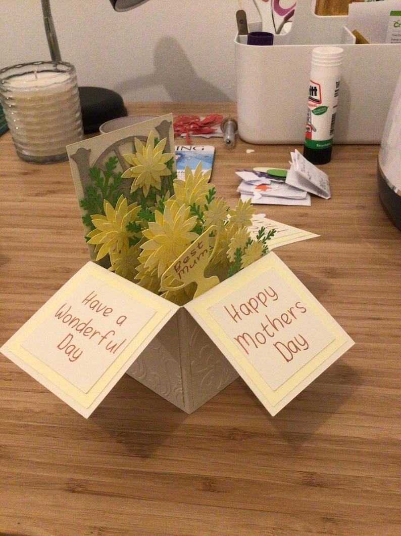 Handmade Box Pop Up Birthday Mothers Day Card