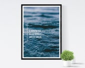 Smooth Sea Never Made a Skilled Sailor Black Framed Wall Art Poster Home Decor
