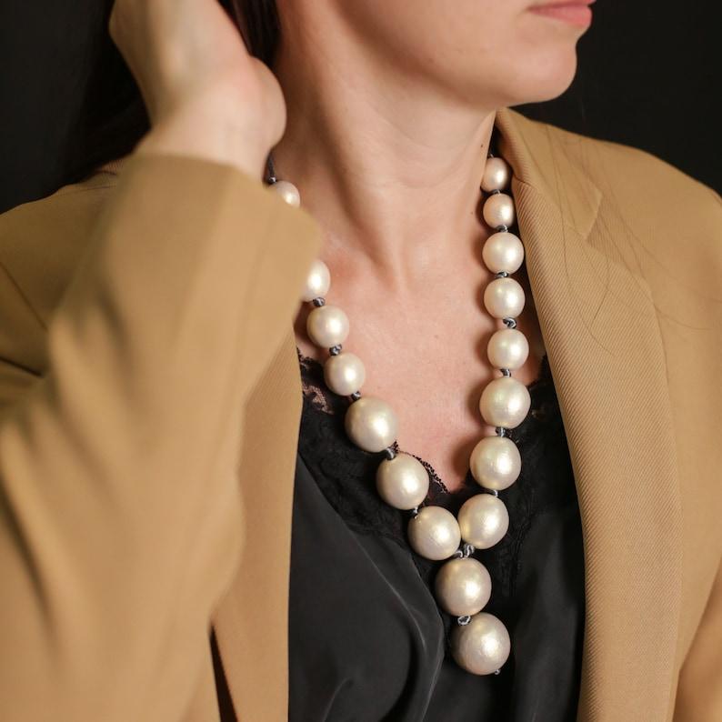 Minimalist necklace beaded jewelry charm necklace