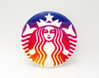 Green Coffee Drink Resin Needle Minder  D86
