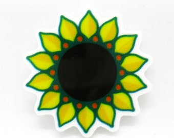 Smiley Sunflower Resin Needle Minder for Cross Stitch