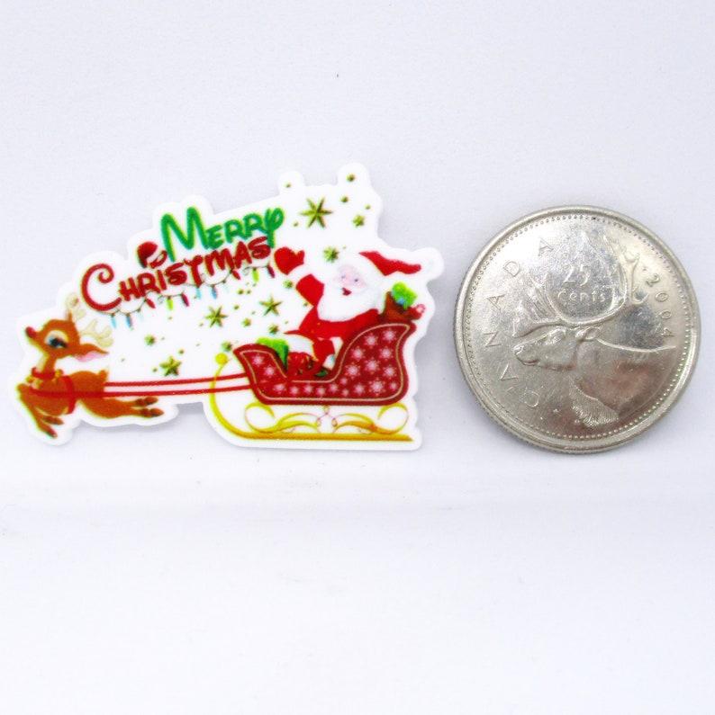 Merry Christmas Santa/'s Sled Resin Needle Minder