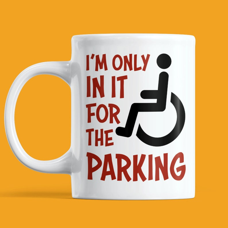 Wheelchair Mug  Funny Gift For Wheel Chair User Disabled image 0